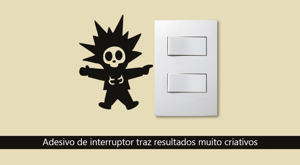 adesivo de interruptor