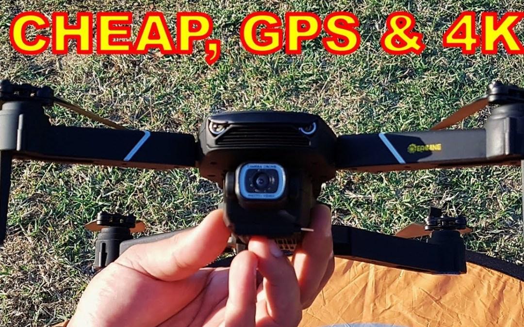 Low Cost GPS Drone with 4K Camera (Eachine E520S) - Mavic Mini Clone, Smart FPV Drone FULL REVIEW