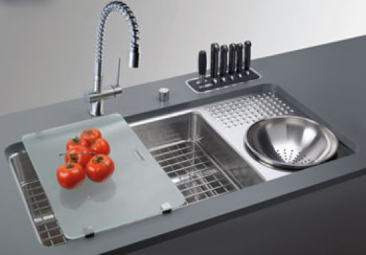 franke kitchen sinks small table plans clever abode sink culinary work station