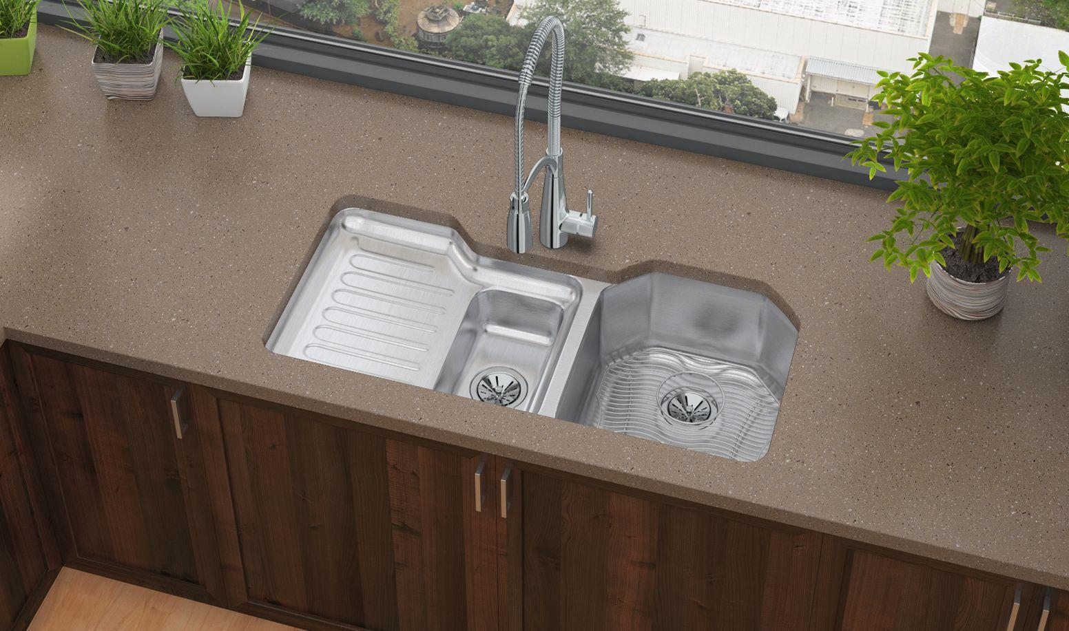 elkay kitchen sinks islands that look like furniture stainless steel everything you need to know qualitybath com 41 1 2 sink