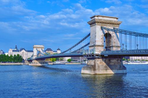 El Puente De Las Cadenas En Budapest