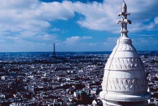 Vistas desde Sacre Coeur, París, Francia