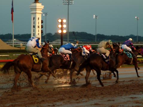 Carrera de caballos, carrera de caballos en la playa