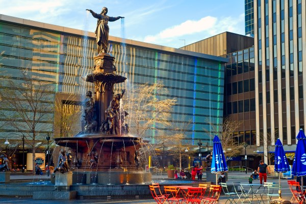 Plaza de la fuente de Cincinnati