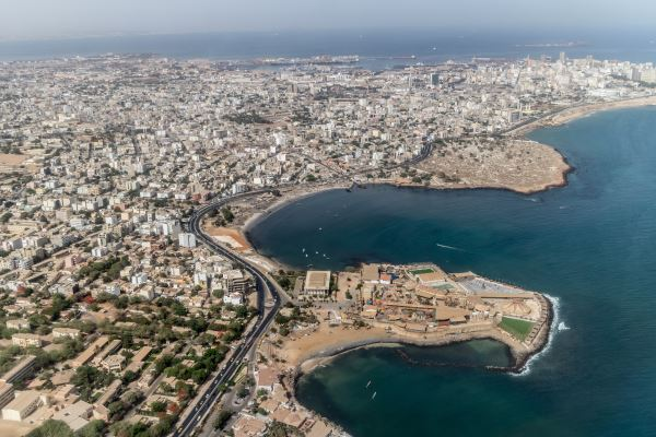 Vista aerea de Dakar, Senegal