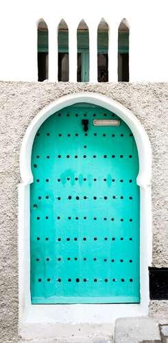 Puerta labrada en Tánger Marruecos