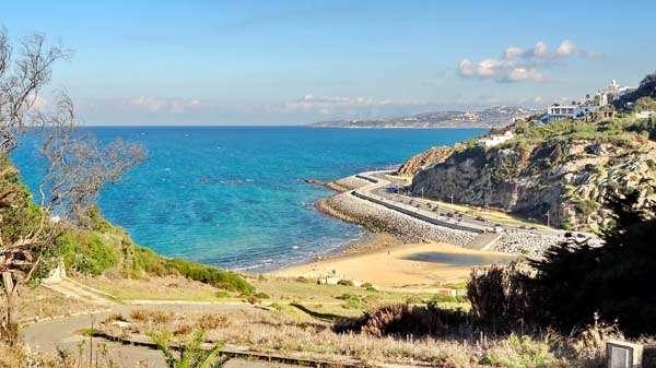 Playa en Tánger