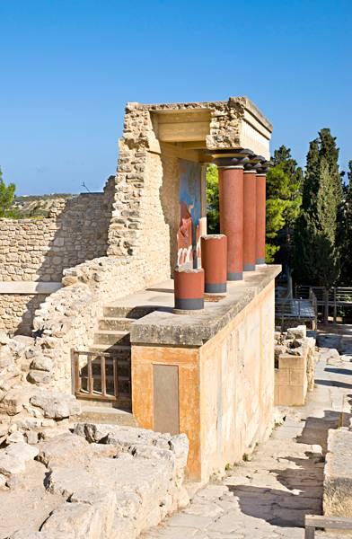 En el palacio de Cnossos