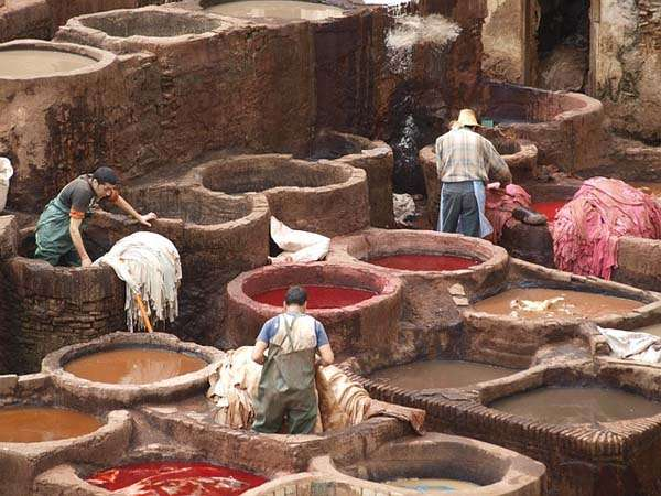 Curtimbre en Fez Marruecos