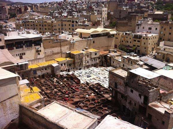 Vistas de Fez en Marruecos