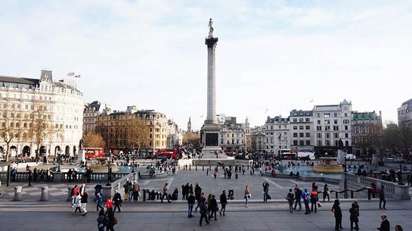 Trafalgar Square en Londres