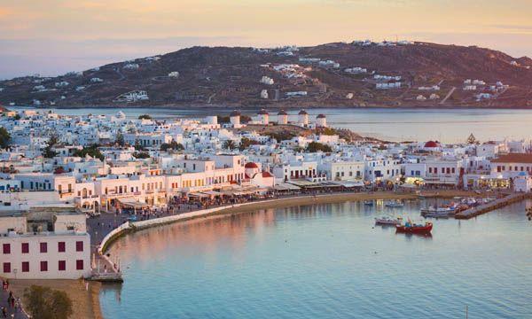 Isla de Mykonoos en Grecia