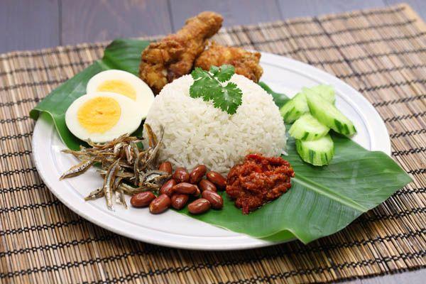 Nasi Lemak plato nacional malayo