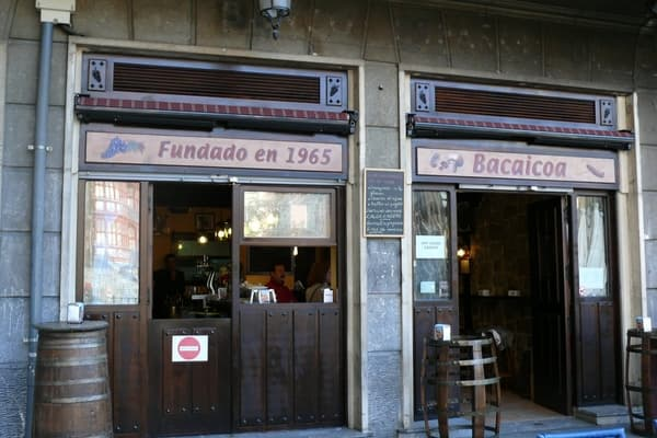 Bacaicoa, pintxos en Bilbao