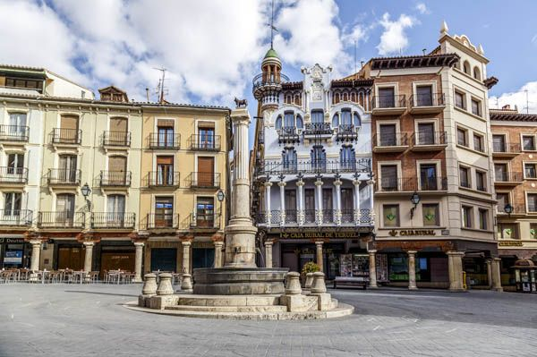 Plaza del torico en Teruel