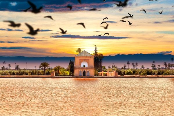 Jardines de Menara en Marrakech