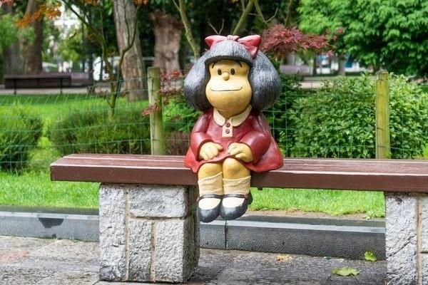 Mafalda en el Parque de San Francisco, Oviedo