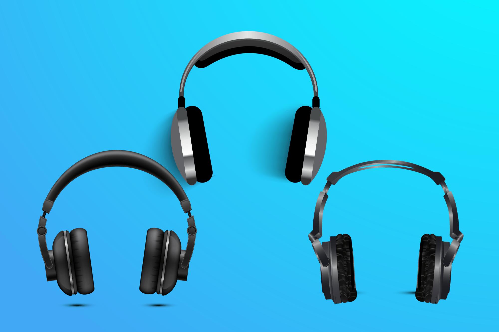 hight resolution of different brands of headphones