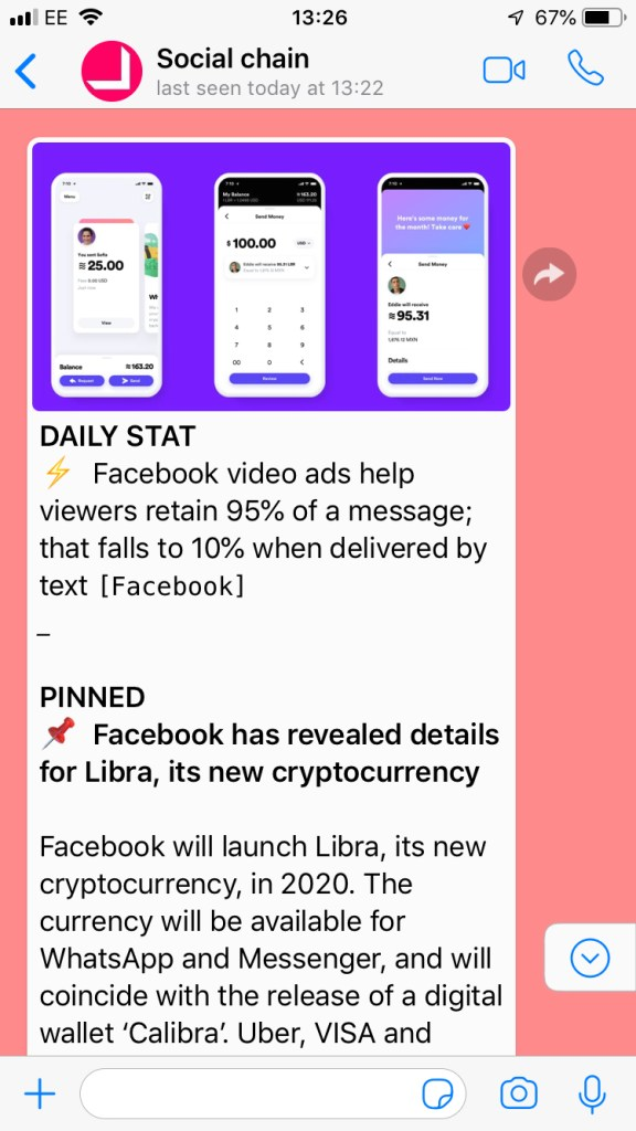 Social Chain's WhatsApp broadcast is an example of brands leveraging more private channels. Quuu Pods aim to do the same.