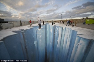 3D Street Painting - The Crevasse