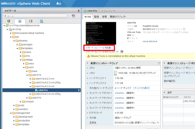 vmrc console link