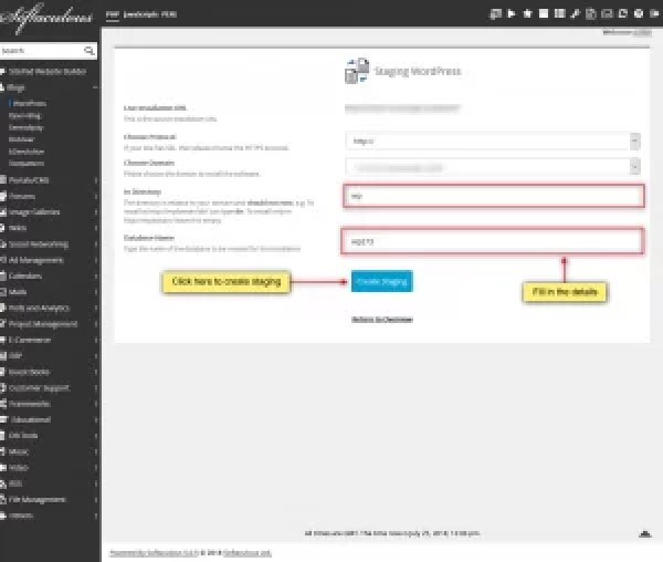 Prevent Breaking your live website with our Staging Feature