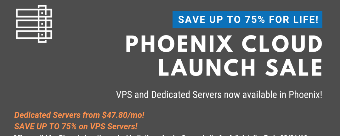 Phoenix DC Now Deploying KVM VPS and Dedicated Servers on ASIA-Optimized Network