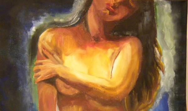 Afrodita. Pintura original al óleo