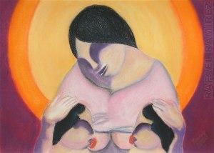 Maternidad - Pintura al pastel. Rafael Ramirez (2008)