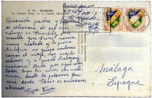 Postal años 50 - 737 Biarritz - Francia. Back