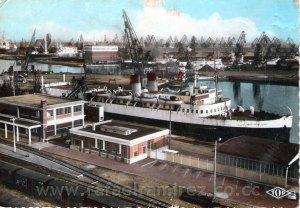 Puerto de Dunkerque. Postal (1966)