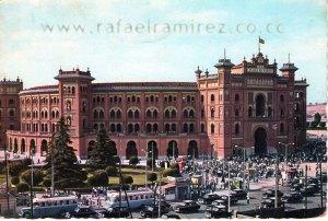 Plaza de Toros de Las Ventas. Madrid - Postal (1958) Front