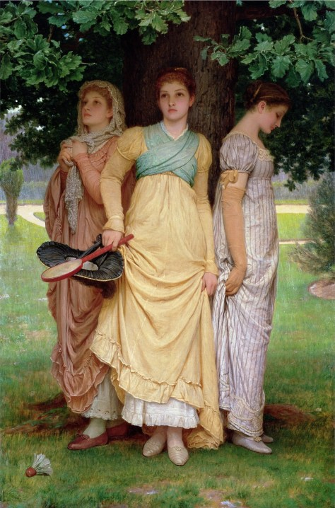 A Summer Shower, 1888 (oil on canvas) by Perugini, Charles Edward (1839-1918); 115.6x76.5 cm; Ferens Art Gallery, Hull Museums, UK; English, out of copyright