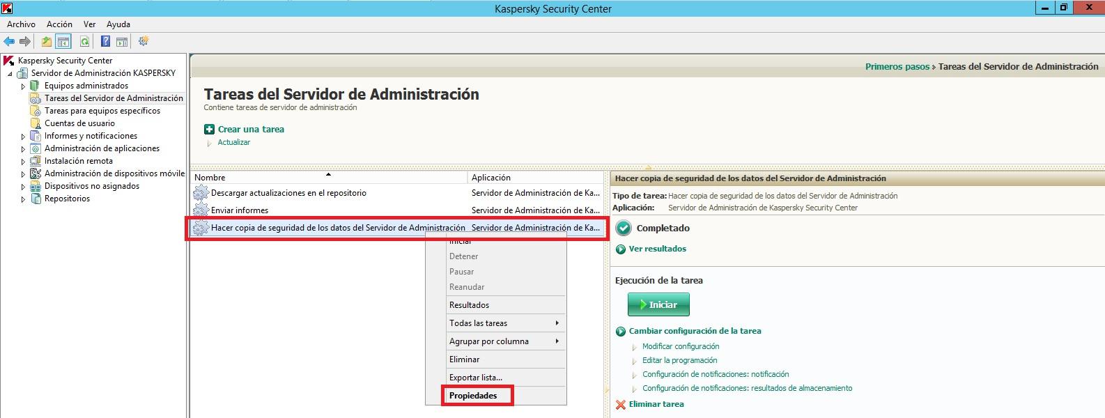 Kaspersky Security Center – Primeras tareas del servidor de ...