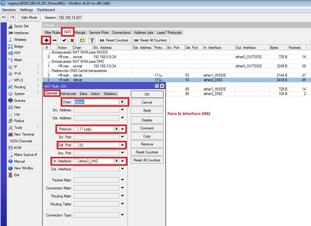 Configuración Firewall con Mikrotik RB1100 AHx2 – Ragasys