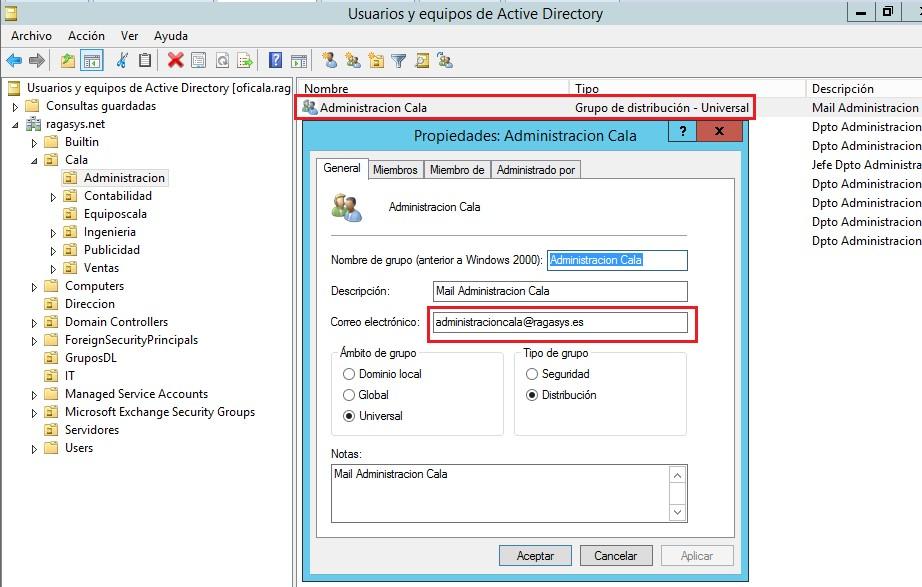 Organización de Active Directory sobre MS Windows Server 2012 R2 ...