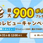 【最大900ポイントプレゼント】夏のレビューキャンペーン!レビューを書いてポイントGET!