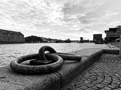 Hafen Kopenhagen mit Festmacherringen