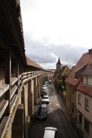 Innere Seite der Stadtmauer
