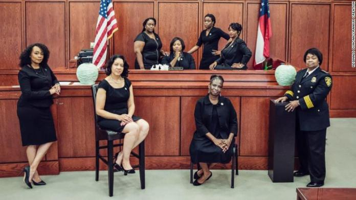 The entire justice system here is run by black women. It's not a diversity experiment. They do things differently.