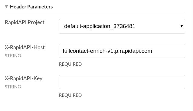FullContact Company API Headers