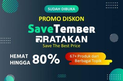 Promo Diskon SaveTember 2020, Diskon Hingga 80%