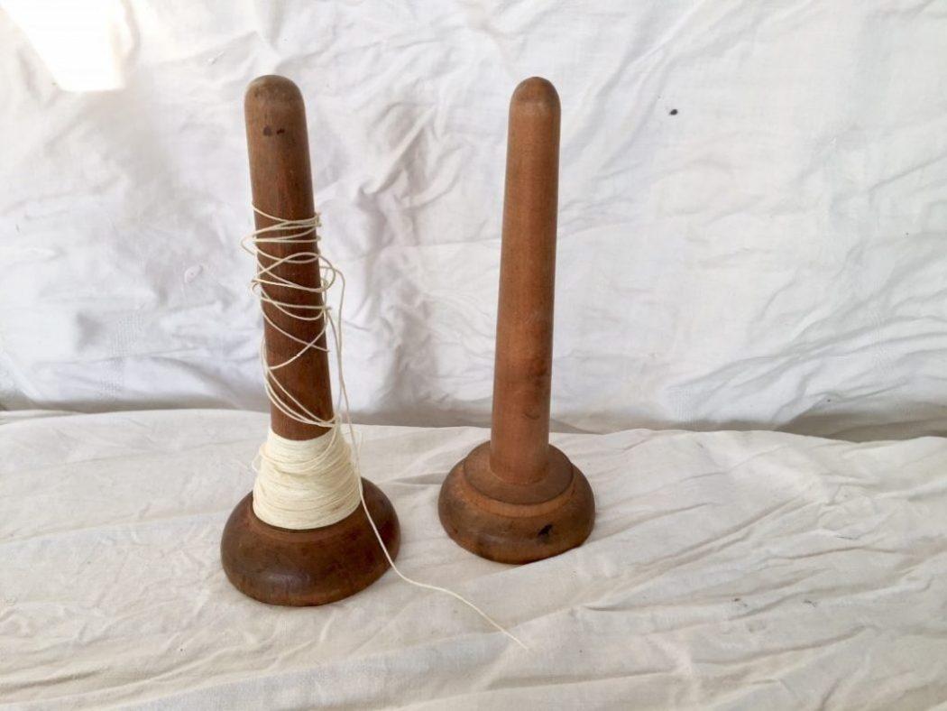 orndung mit alten garnspulen