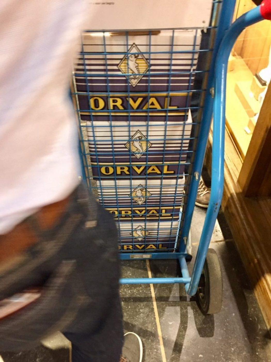 kloster orval bier in kisten