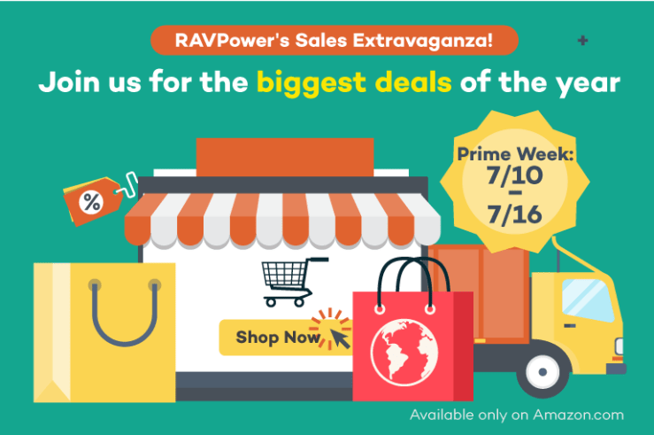 Cover RAVPower Prime Day Amazon Promotion