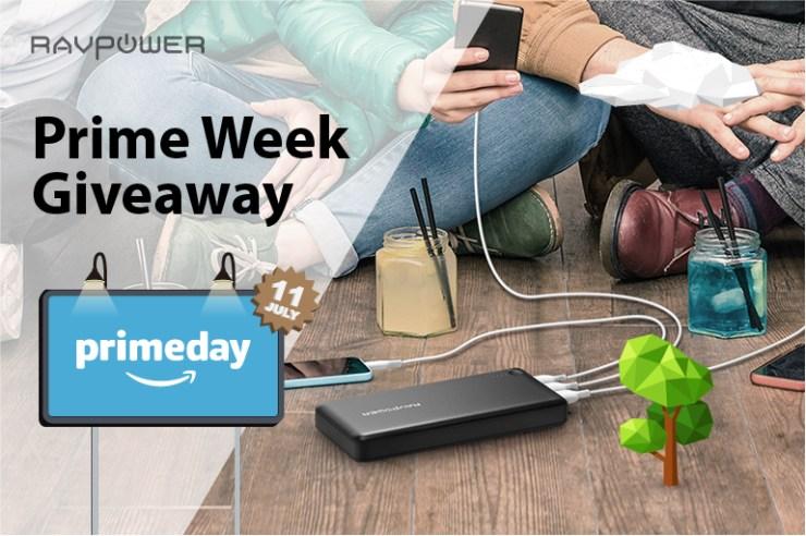 RAVPower Prime Week Giveaway Sales Promo