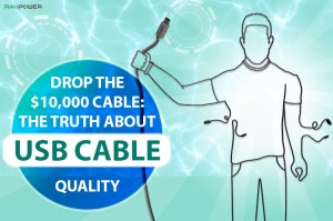 The Truth About USB Cable Quality Banner Wireframe Man USB-A