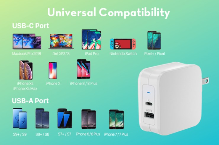 iSmart Charging has universal capabilities