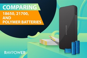 Battery cell 18650, 21700, and Polymer Batteries, RAVPower RP-PB201