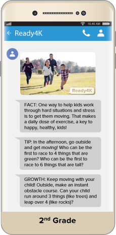 FACT: One way to help kids work through hard situations and stress is to get them moving. TIP: In the afternoon, go outside and get moving! Who can be the first to race to 4 things that are green?